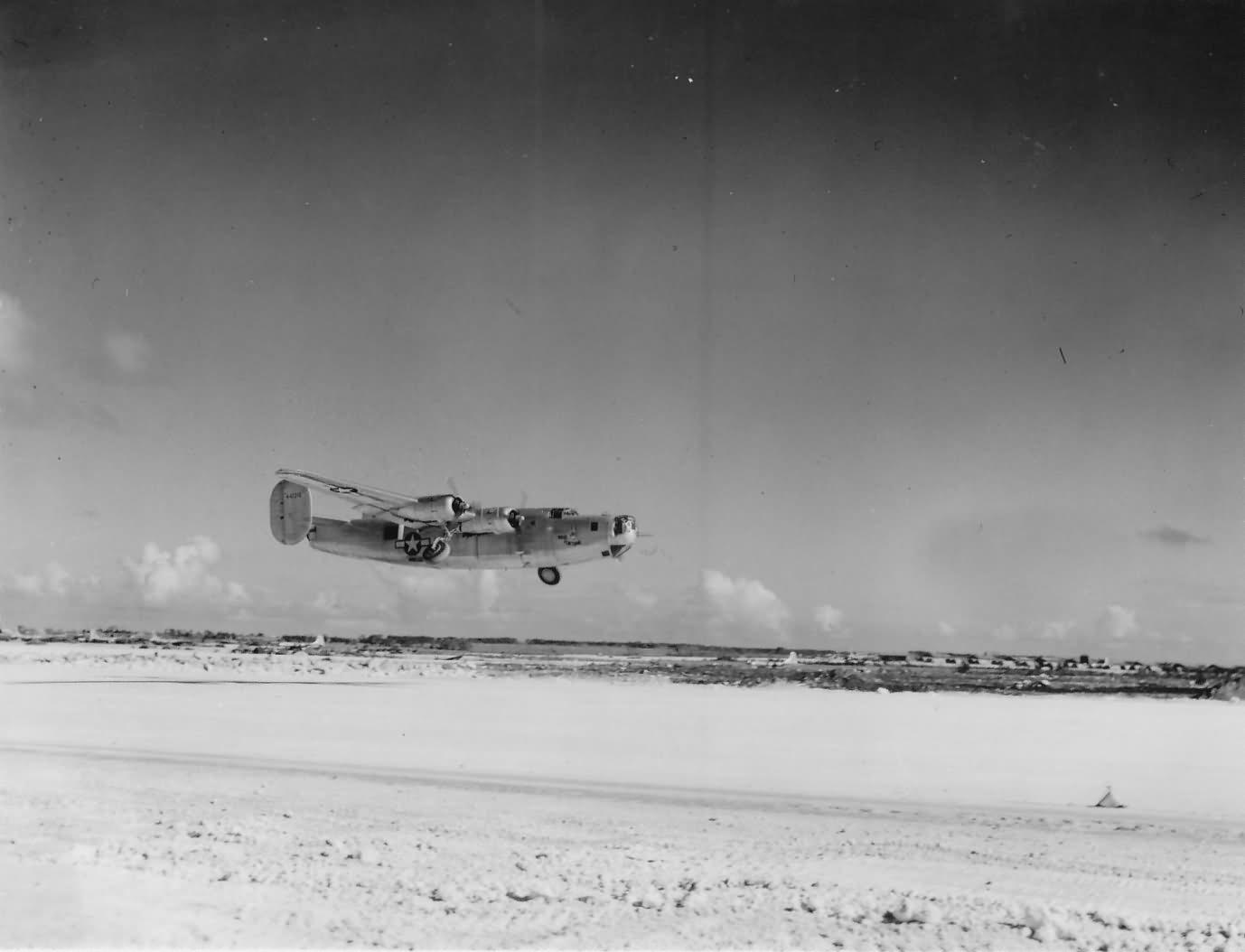 B-24 Liberator On Tinian Airfield Paciific PTO