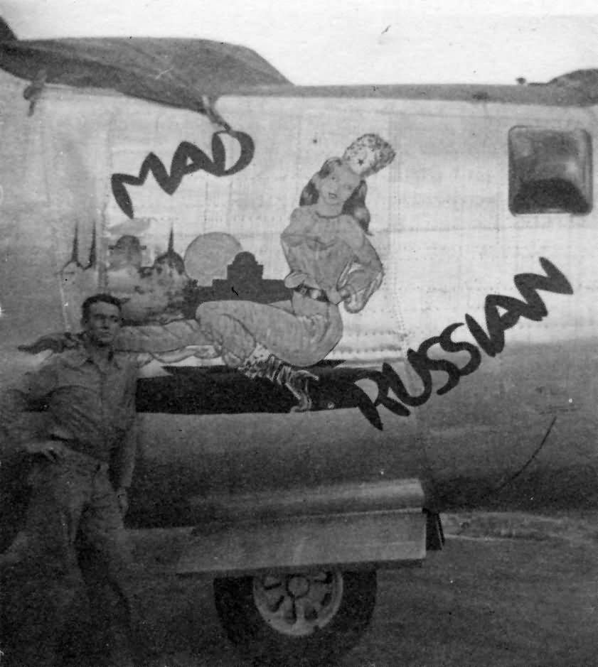 43rd Flying Squadrons Beercans: B-24 Liberator 43rd Bomb Group Mad Russian