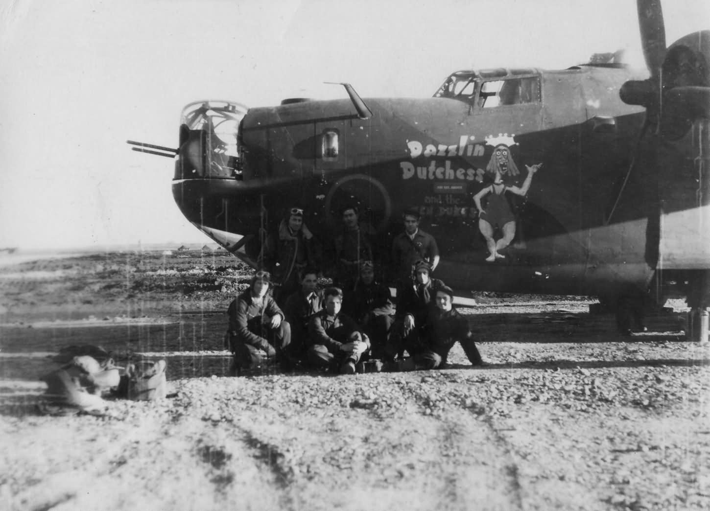 B-24 Liberator 455th Bomb Group Dazzlin Dutchess and the ten dukes 42-64500