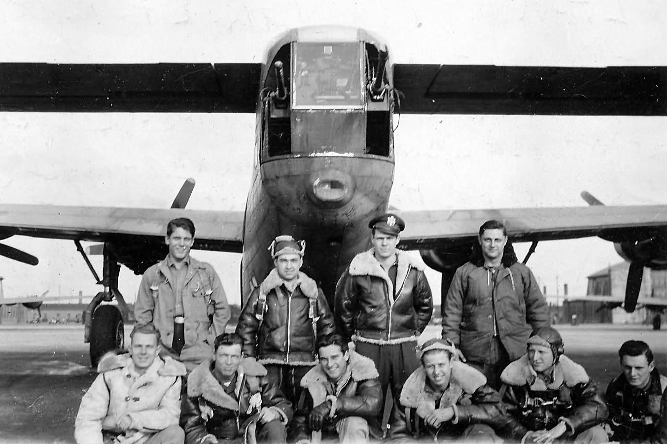 B-24 Tail and crew members Pacific