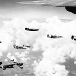 15th Air Force 451st BG B-24 Bombers in flight