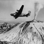 15th Air Force B-24 Liberator #71 Flying over Mount Vesuvius 1944