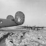 "44th BG 67th BS B-24D Liberator 41-23818 ""Bela"" Taxiing at Airfield in England"