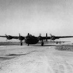 44th BG B-24D Liberators Taxiing at Airfield in England
