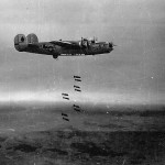 455th Bomb Group B-24J #43 named CHERRIE s/n 42-51332 Dropping Bomb Load