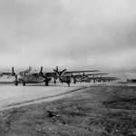 460th Bomb Group 760th BS B-24 Liberators Take Off Spinazzola Italy