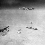 460th Bomb Group 760th BS B-24 Liberators in formation