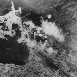 9th AAF B-24 Liberator During Attack on Messina Harbor Sicily July 1943