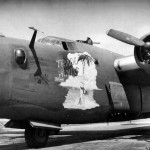 "B-24H serial 41-28837 ""Trade Winds"" of the 487th Bomb Group 837th Bomb Squadron 8th AF"