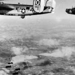 B-24J serial 42-50561 of the 486th Bomb Group, 833rd BS code 4N-K, dropping bombs