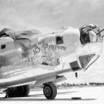 "B-24M 44-42378 of the 380th Bomb Group, 528th Bomb Squadron – Nose art A ""Wing an' 10 Prayers"" Okinawa 1945"