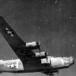 """B-24 Liberator #27 42-64448 Nose Art """"Bottoms Up"""" 450th BG 721st BS"""