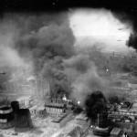 B-24 Bombers Attacking Burning Ploesti Oil Refinery