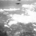 B-24 Bombers Dropping Bombs Over Target