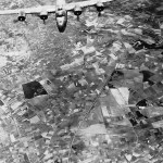 B-24 Liberator Dropping Its Bombs