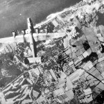 B-24 of 8th AF German Oil Plant Under Attack 1944