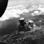 B-24 of the 90th Bomb Group Jolly Rogers over Balikpapan October 1944