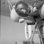 Leigh Light used for spotting U-boats on the surface at night fitted to a Liberator of Coastal Command.