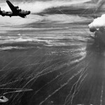USAAF Liberator Attacked With Japanese Phosphorus Bomb While Bombing Truk