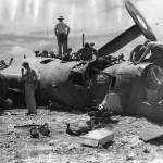 "Wreckage of B-24J-80-CO ""The Chambermaid"" 42-100227 of the 38th Squadron 30th Bombardment Group 1944"
