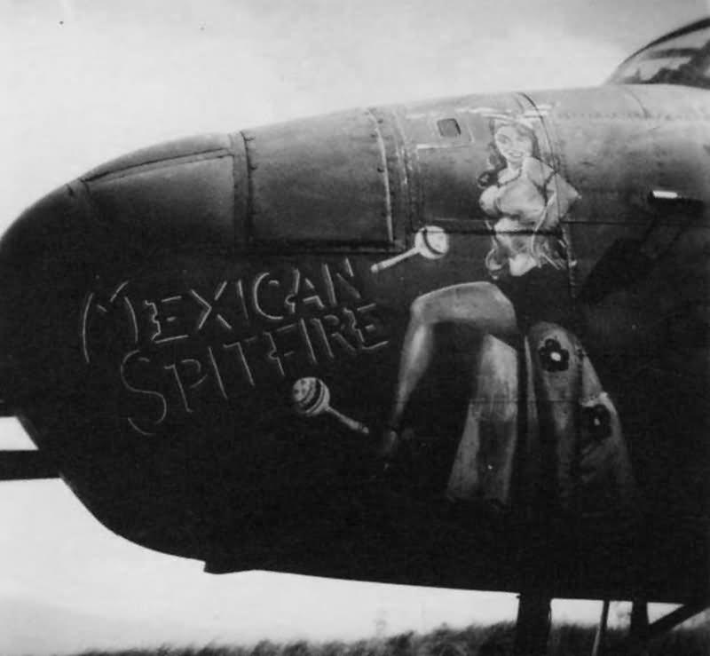 B-25D Mitchell 41-30592 Nose Art Mexican Spitfire