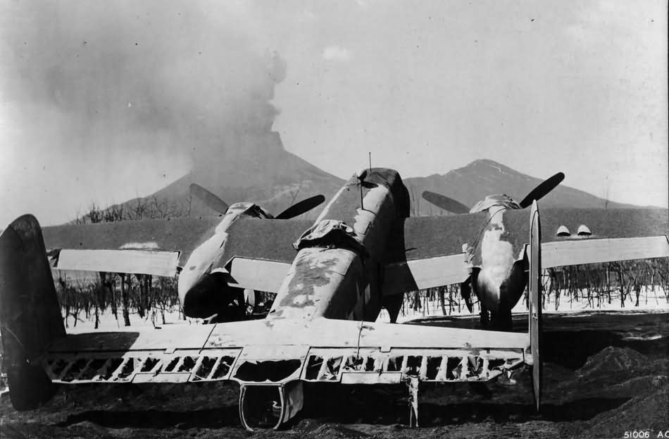 Vesuvius and B-25 Mitchell March 1944