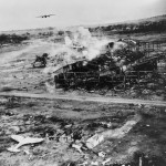 5th Air Force B-25 Strafing Ki-43 Hayabusa Clark Field 1945