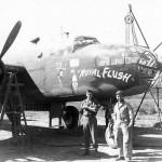 B-25D Bomber Royal Flush Nose Art