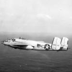 B-25J Mitchell in flight Attu Alaska 77th BS 28th BG 1944 43-36135