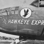 B-25 Mitchell 6th Photo Group The Hawkeye Express nose art