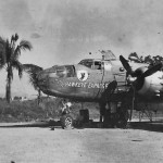 B-25 6 Photo Group The Hawkeye Express nose art Philippines