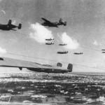 B-25 Mitchell 12th BG formation Tunisia 1943