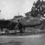 B-25 Mitchell Parked On Pacific Airstrip