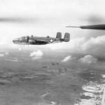 B-25C Mitchell bomber in flight 42-53387