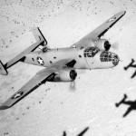 B-25 Mitchell over africa desert