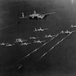 B-25 Mitchells Heading for Raid on Rabaul 1944