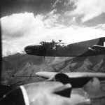 B-25 New Guinea Bat Outa Hell Bombers On Way To Target 1944
