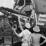 "B-25H Mitchell of the 12th BG, 82nd BS, 43-4208, ""Vikin's Vicious Virgin"" Nose Art cannon CBI"