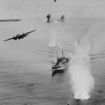 B-25 Gunship attack japanese convoy Kavieng New Ireland 1944