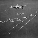 B-25 bombers and ships march 1944