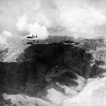 B-25 bombers flying over Burma April 1944