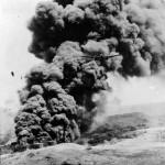 B-25 destroying japanese oil East Indies 1944