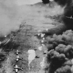 B-25 bombers drop parafrags Dagua New Guinea February 1944