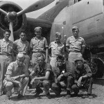 Crew Posed by Their B-25 Mitchell