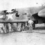 Damaged B-25 Mitchell Bomber