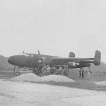 North American B-25 Mitchell Parked On Pacific Airfield