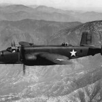 North American B-25 Mitchell during test flight