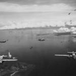 PBJ Mitchell Bombers in Heavy AA Fire Rabaul 1944