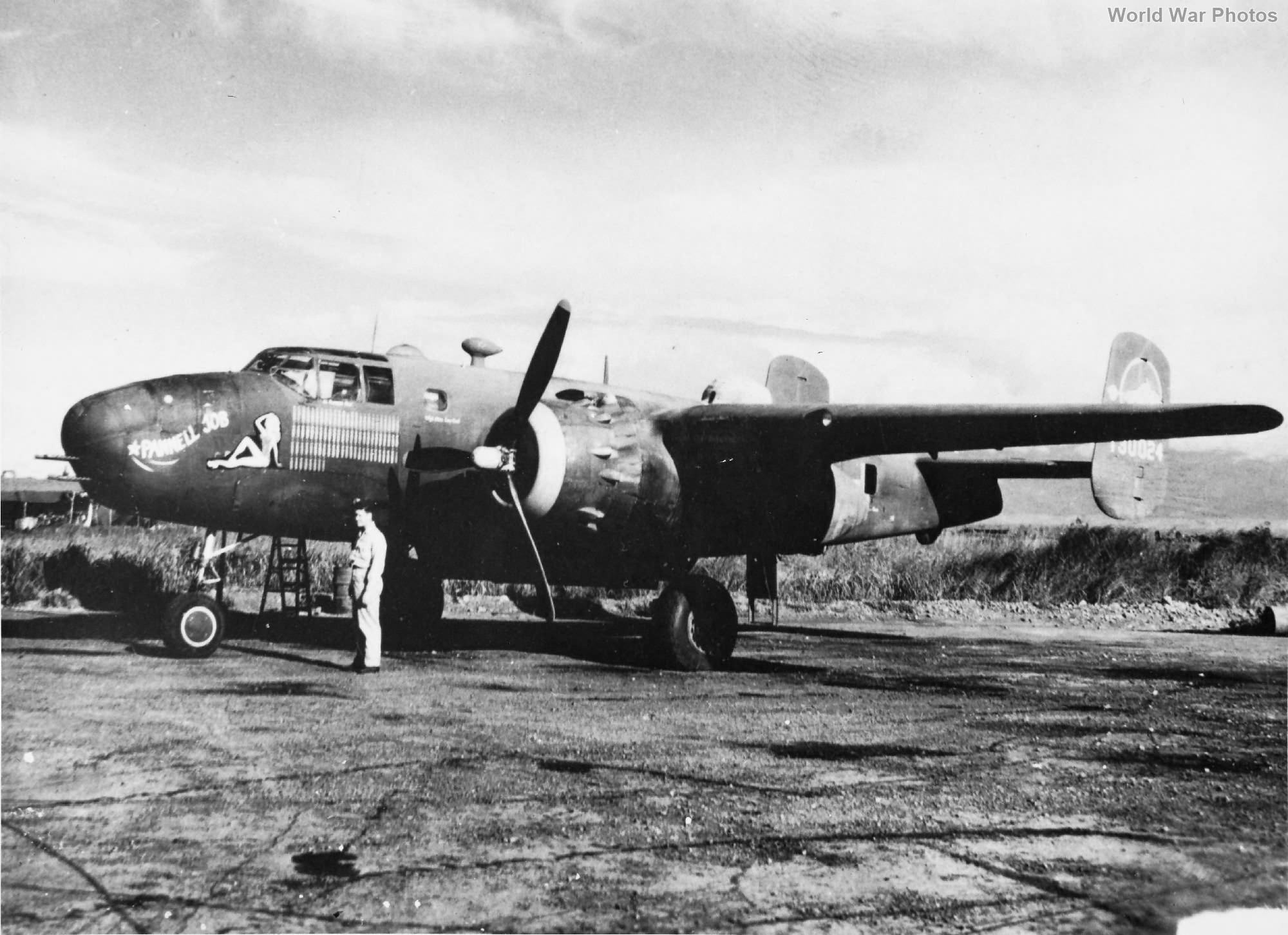 """B-25D 41-30024 """"Pannell Job"""" of the 500th BS, 345th BG"""