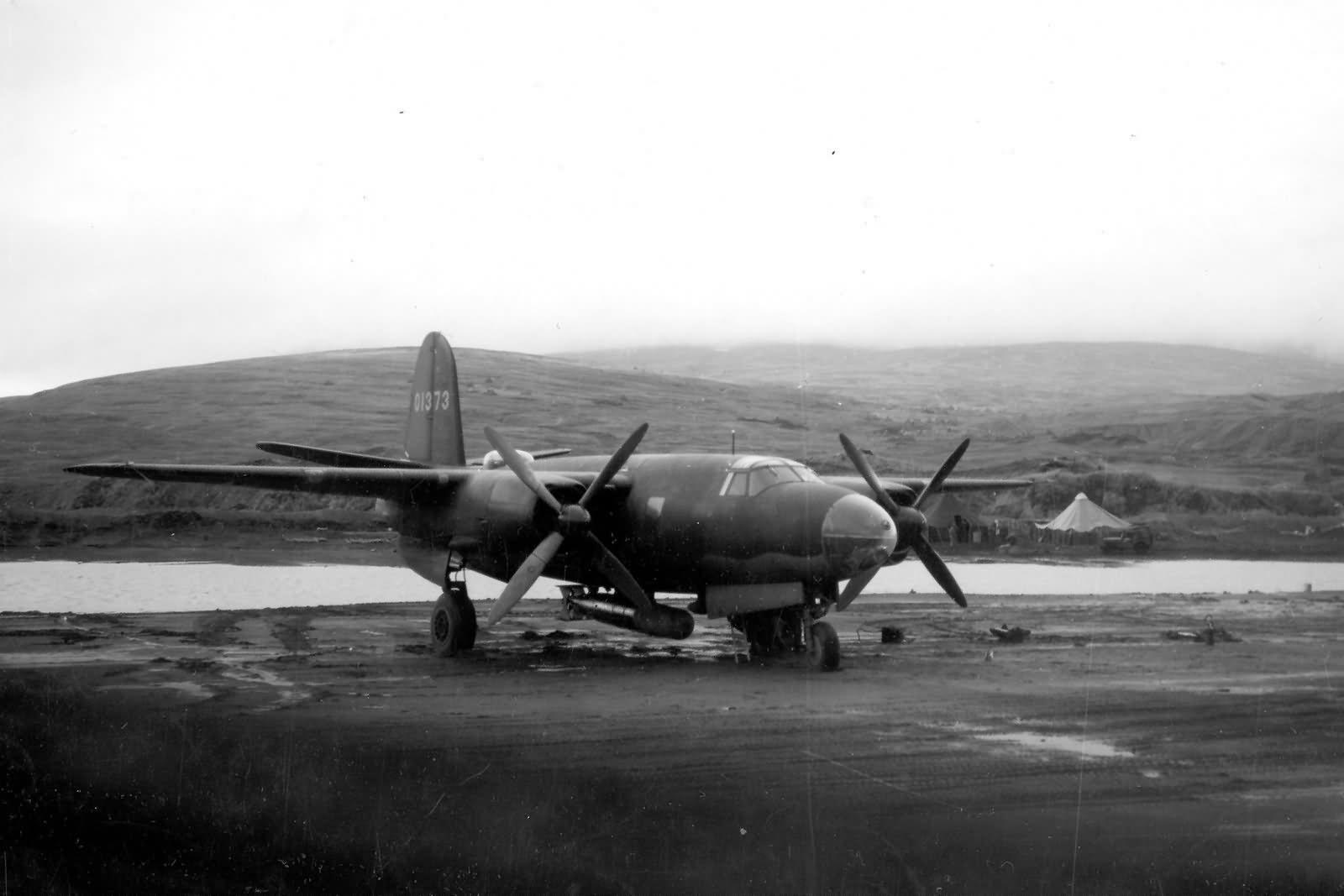 B-26 Marauder 40-1373 of 77th Bomb Squadron Adak Island in the Aleutians November 1942